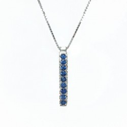 Necklace in white gold and sapphires