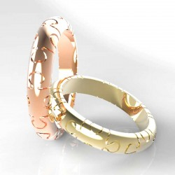 "Wedding rings ""Puzzle"" render"