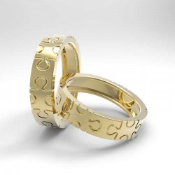 "wedding rings ""Puzzle flat""render"