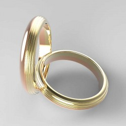 "Wedding rings""Fluted"" render"