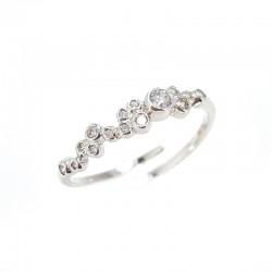 Ring in silver and cubic zirconia