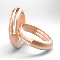 "Wedding rings ""Picasso""render"