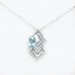 Sterling silver necklace with pendant and topaz heavenly
