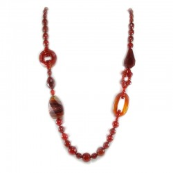 Necklace carnelian and jasper