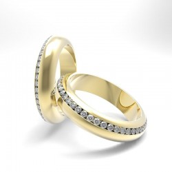 "Wedding rings ""diamond track""render"